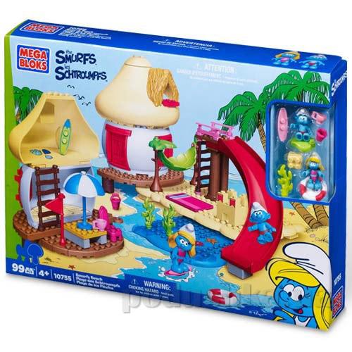 Смурфы Набор конструктора Пляж 10755 Mega Bloks