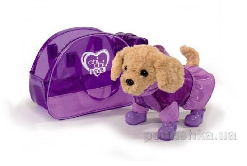 Собачка Пудель Люблю дождик с сумочкой Chi Chi Love 5891599