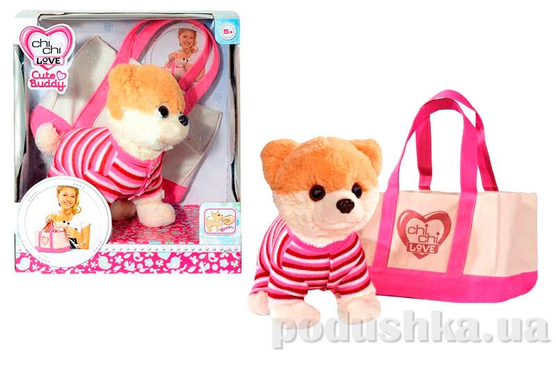 Собачка Шпиц Chi Chi Love в розовом реглане и с сумочкой 5895109