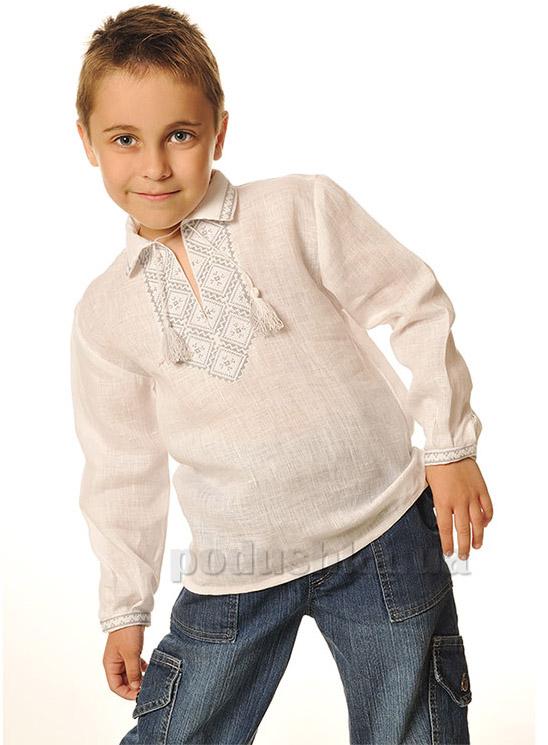 Сорочка вышитая для мальчика Bimbissimi СХ-001 серая