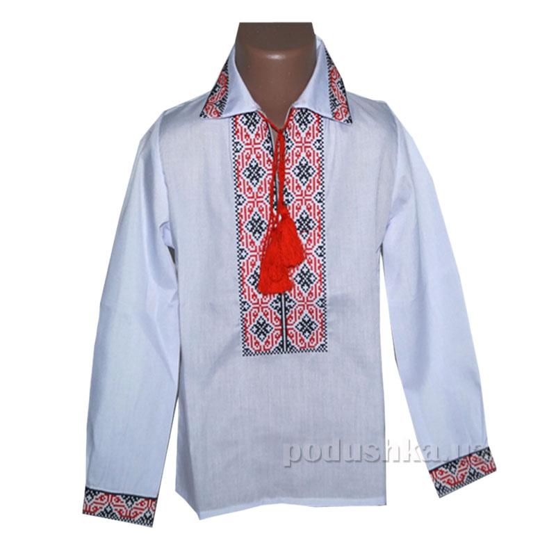 Сорочка вышитая для мальчика Ромбы Bimbissimi СХ-010 красная