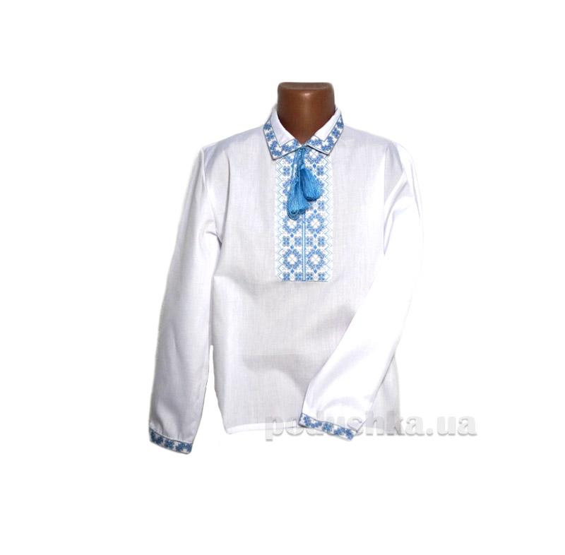 Сорочка вышитая для мальчика Ромбы Bimbissimi СХ-10 синяя