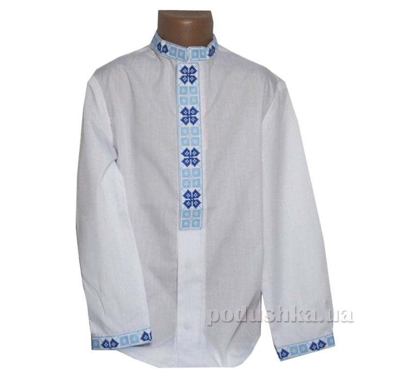 Сорочка вышитая для мальчиков Bimbissimi СХ-003 синяя