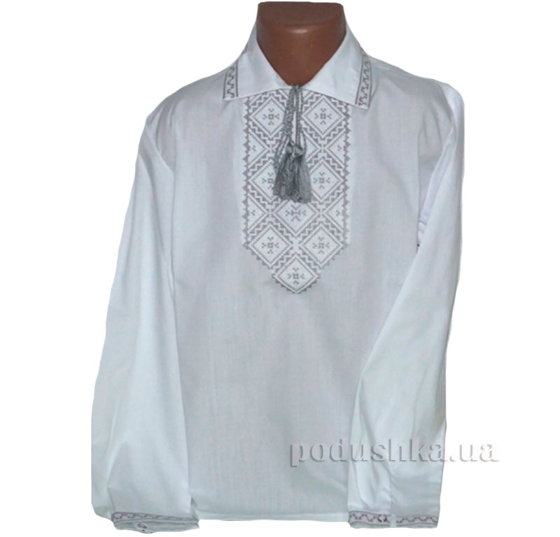 Сорочка вышитая Орнамент Bimbissimi СХ-016 серебристая