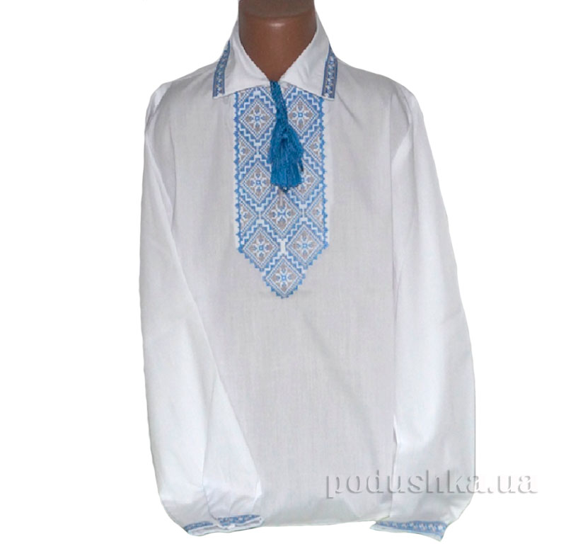 Сорочка вышитая Орнамент Bimbissimi СХ-016 синяя
