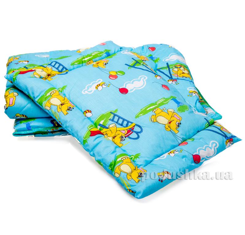 Спальный комплект детский Слоник голубой Мiцний сон НД-14 СЛОНИК блакитний