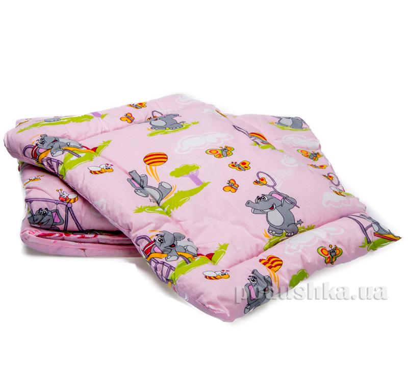 Спальный комплект детский Слоник розовый Мiцний сон НД-15 СЛОНИК рожевий