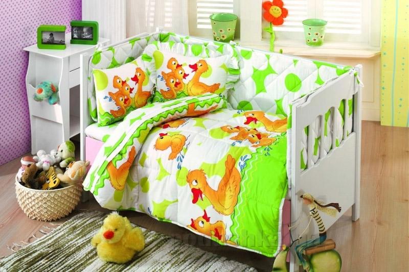 Спальный комплект для детской кроватки Kristal Paytak салатовый