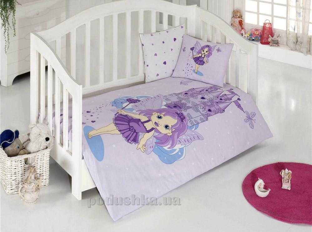 Спальный комплект для детской кроватки Kristal Perri V01 лиловый