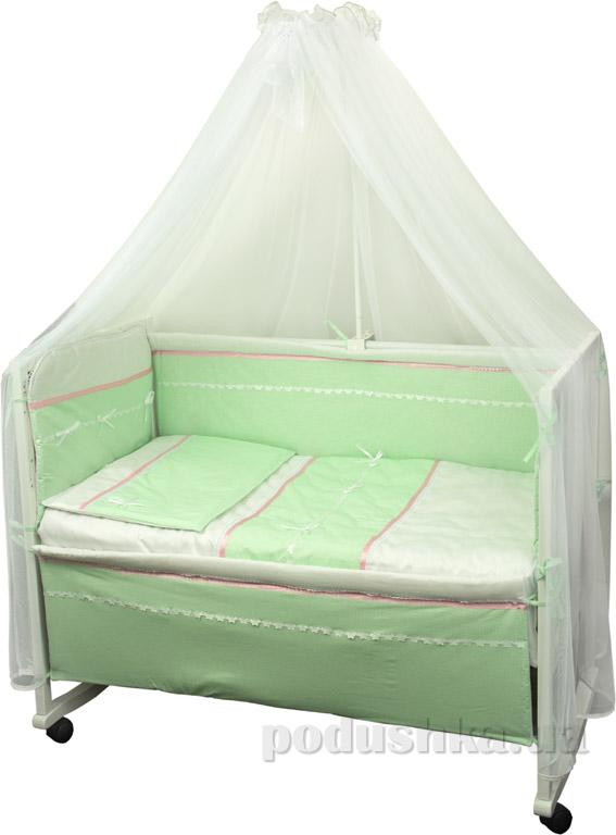 Спальный комплект для детской кроватки Лапушка салатовый