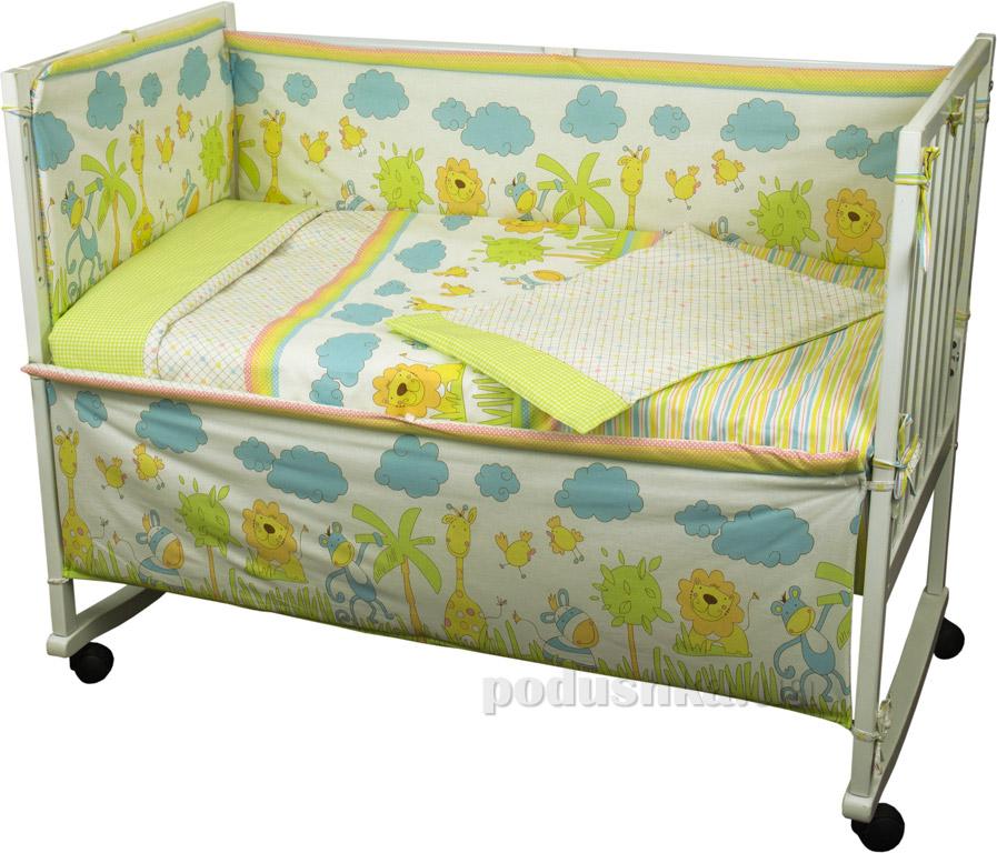 Купить:  Спальный комплект для детской кроватки Руно 977 Джунгли   Руно