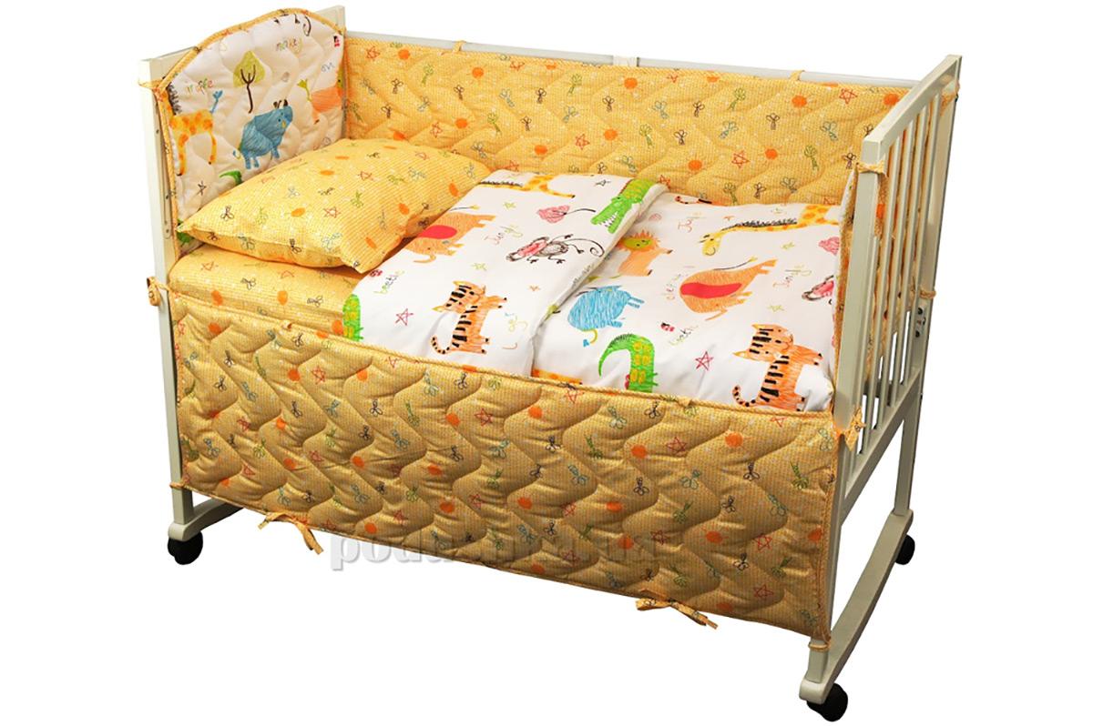 Спальный комплект для детской кроватки Руно 977 Jungle