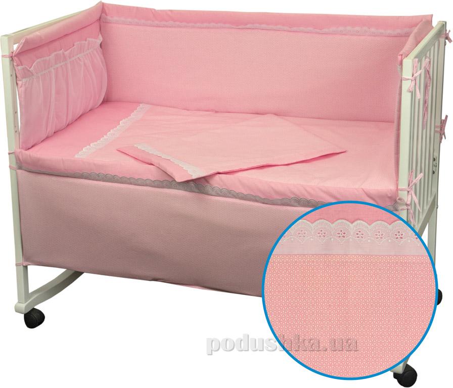 Спальный комплект для детской кроватки Руно 977 Карапуз розовый