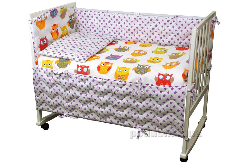 Спальный комплект для детской кроватки Руно 977 Совы