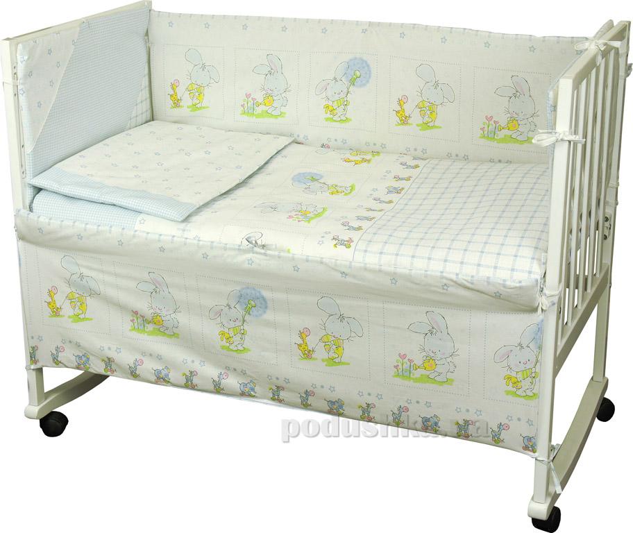 Спальный комплект для детской кроватки Руно 977 Зайка на прогулке