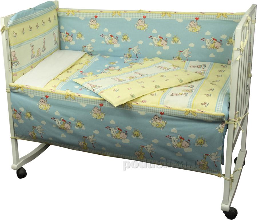Спальный комплект для детской кроватки Руно 977 Журавлик   Руно