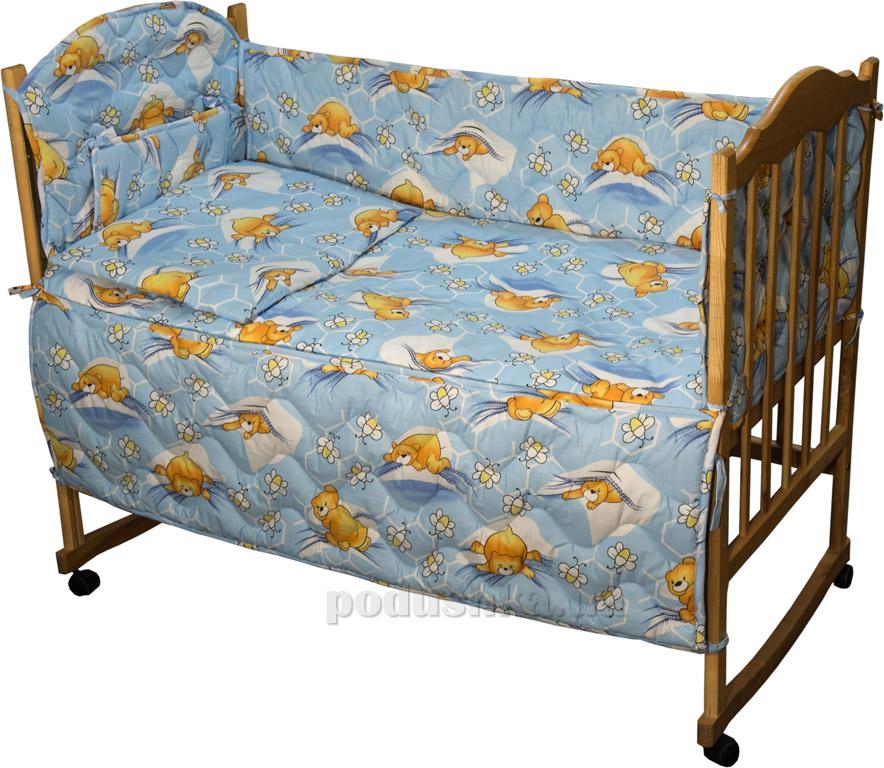 Спальный комплект для детской кроватки Руно 977У Сладкий сон голубой