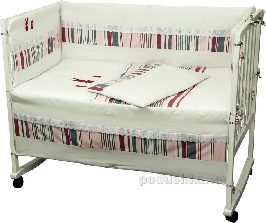 Спальный комплект для детской кроватки Руно 977У Зайцы