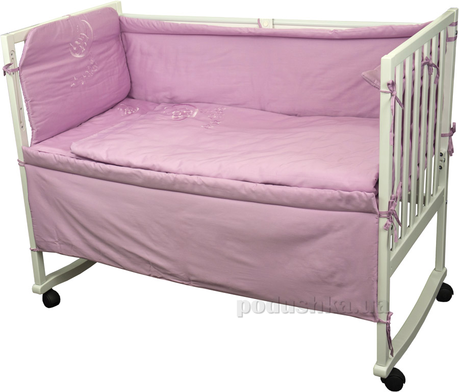 Спальный комплект для детской кроватки Руно 978.137ВУ сиреневый