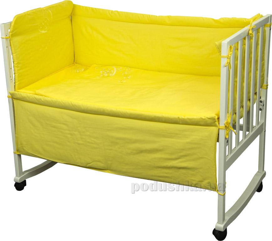 Спальный комплект для детской кроватки Руно 978.137ВУ желтый