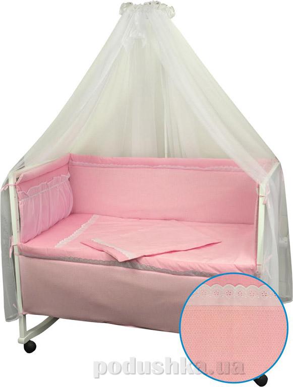 Спальный комплект для детской кроватки Руно Карапуз розовый