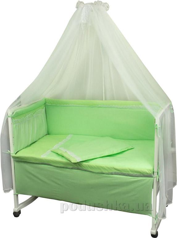 Спальный комплект для детской кроватки Руно Карапуз салатовый