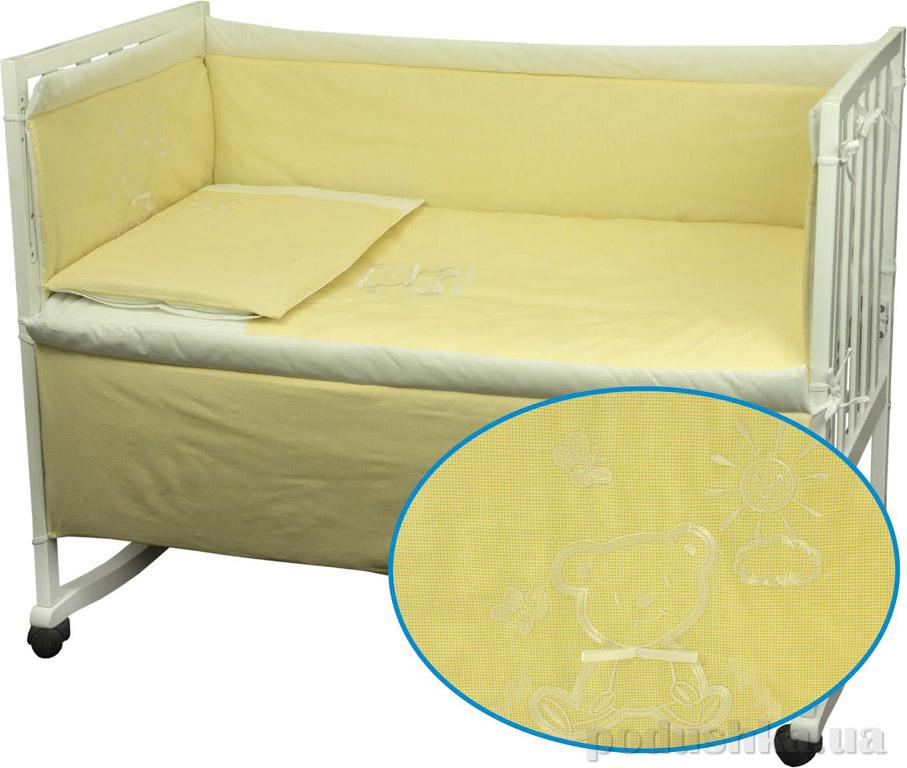 Спальный комплект для детской кроватки Руно Мишка желтый