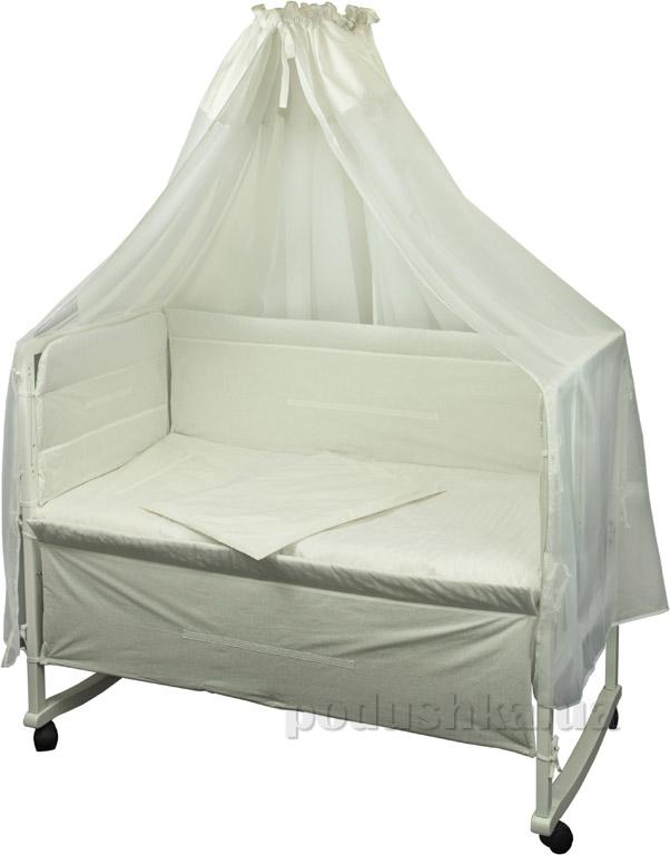Спальный комплект для детской кроватки Руно Прованс белый