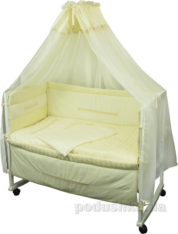 Спальный комплект для детской кроватки Руно Прованс молочный