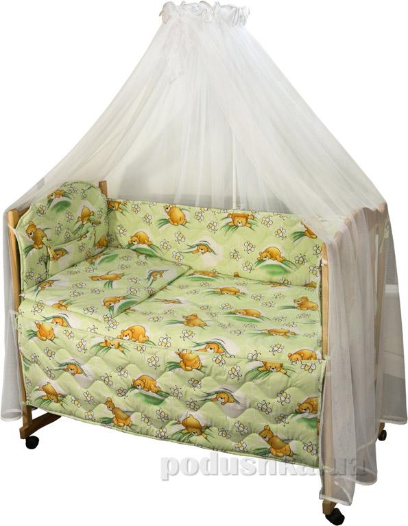 Спальный комплект для детской кроватки Руно Ромашка Сладкий сон салатовый