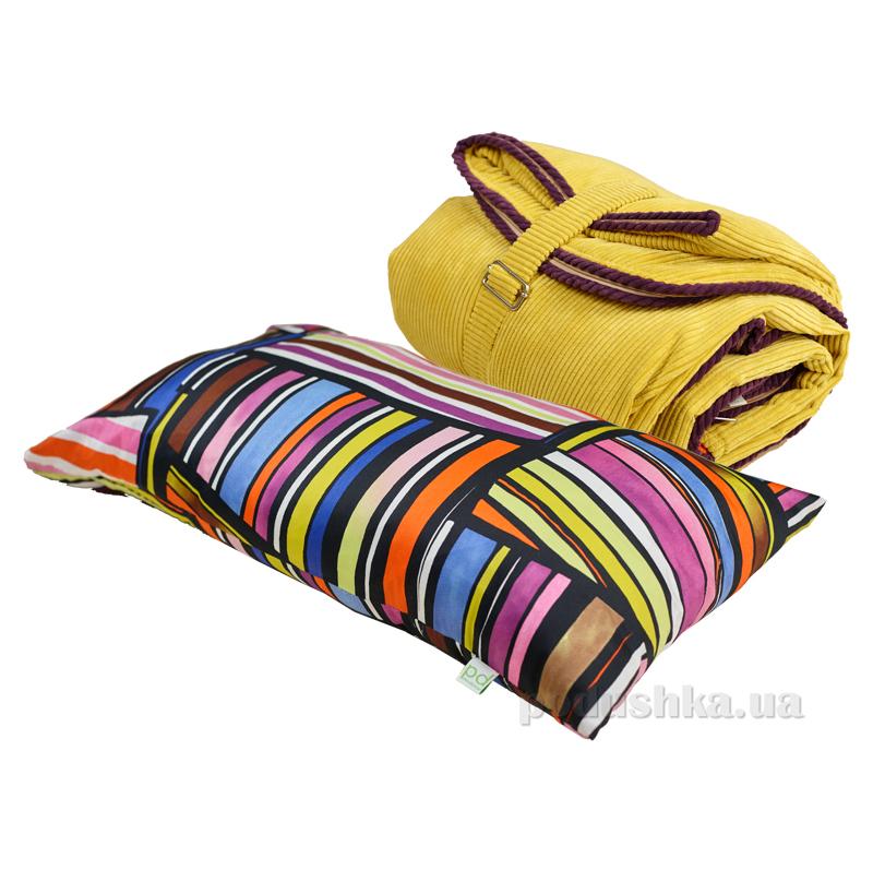 Спальный мешок bq-style желтый с подушкой
