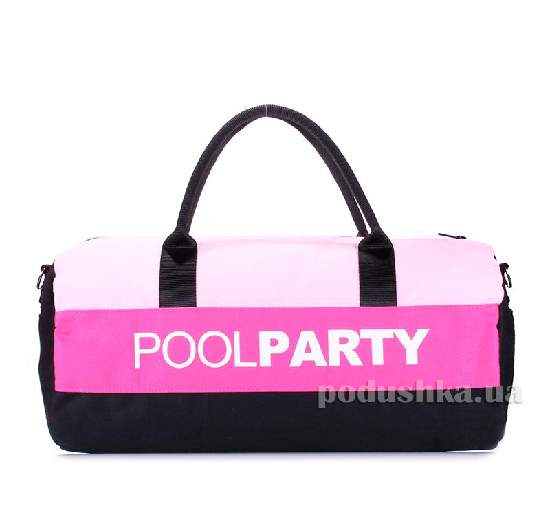 Спортивно-повседневная сумка Poolparty poolparty-gymbag-rose-pink-black