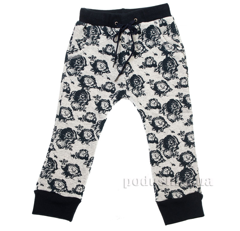 Спортивные брюки Цветы Kids Couture 16-11 серые