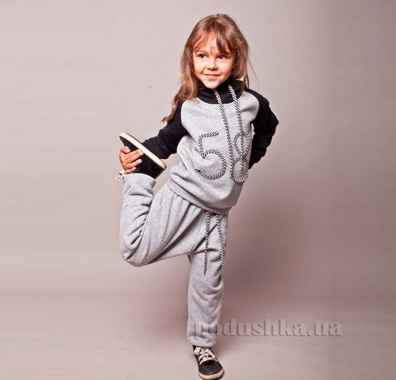 Спортивный костюм 58 Kids Couture серый с черным