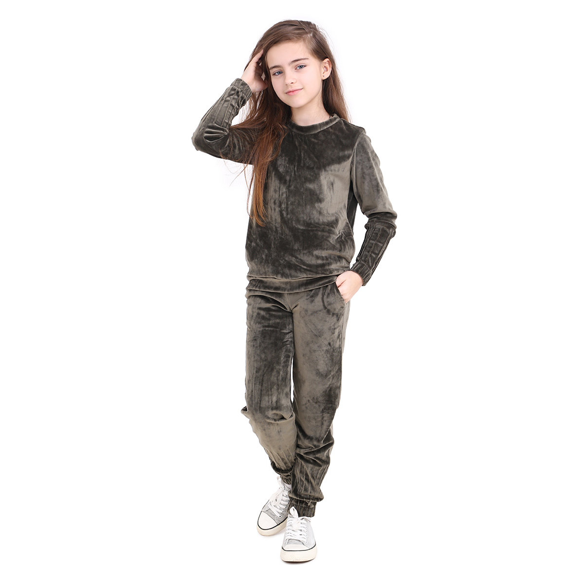 bac53f90 Спортивный костюм для девочки Timbo Bella K044576 хаки купить в ...