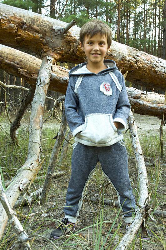 Спортивный костюм для мальчика Модный Карапуз 03-00474 Темно-синий