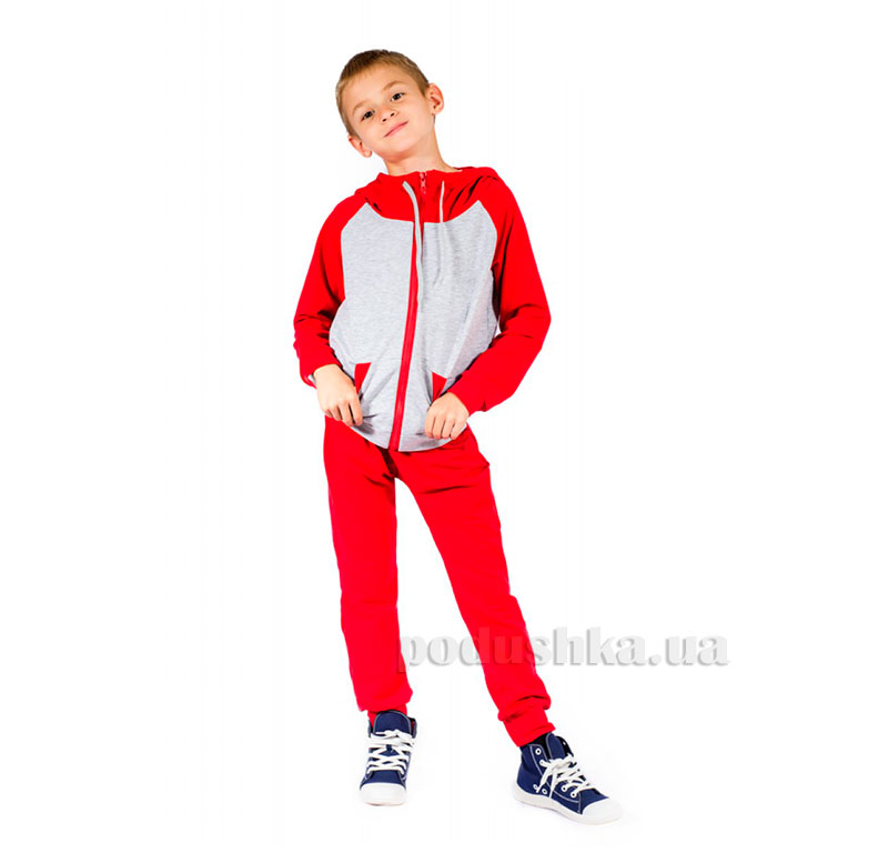 Спортивный костюм на змейке Kids Couture красный
