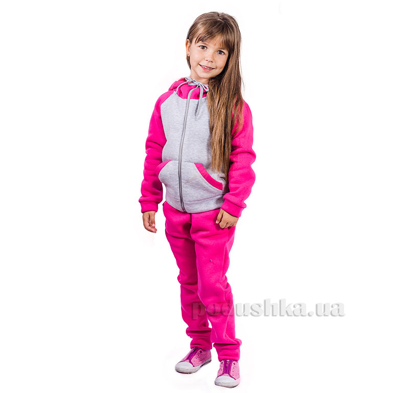 Спортивный костюм на змейке Kids Couture малиновый