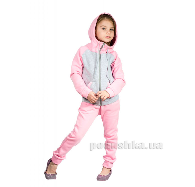 Спортивный костюм на змейке Kids Couture розовый