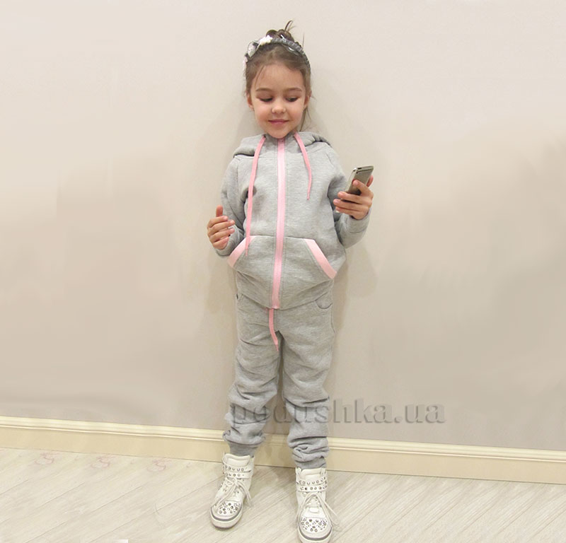 Спортивный костюм на змейке Kids Couture серый