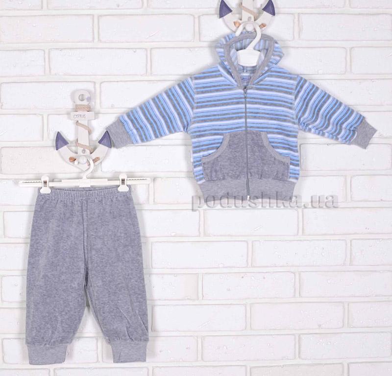 Спортивный костюм Татошка 08305 серый в голубую полоску