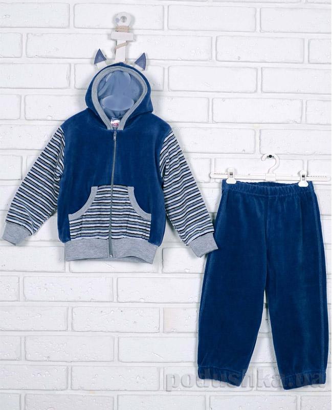 Спортивный костюм Татошка 08305 синий в серую полоску
