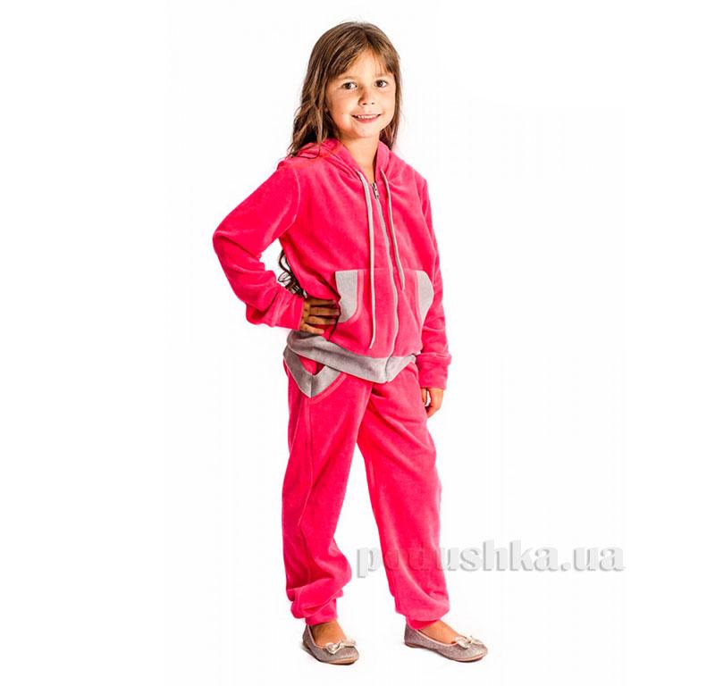 Спортивный костюм Велюр Kids Couture коралловый
