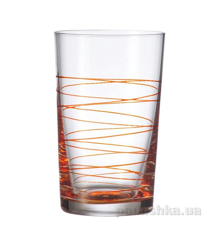 Стакан большой Leonardo Spirale оранжевый