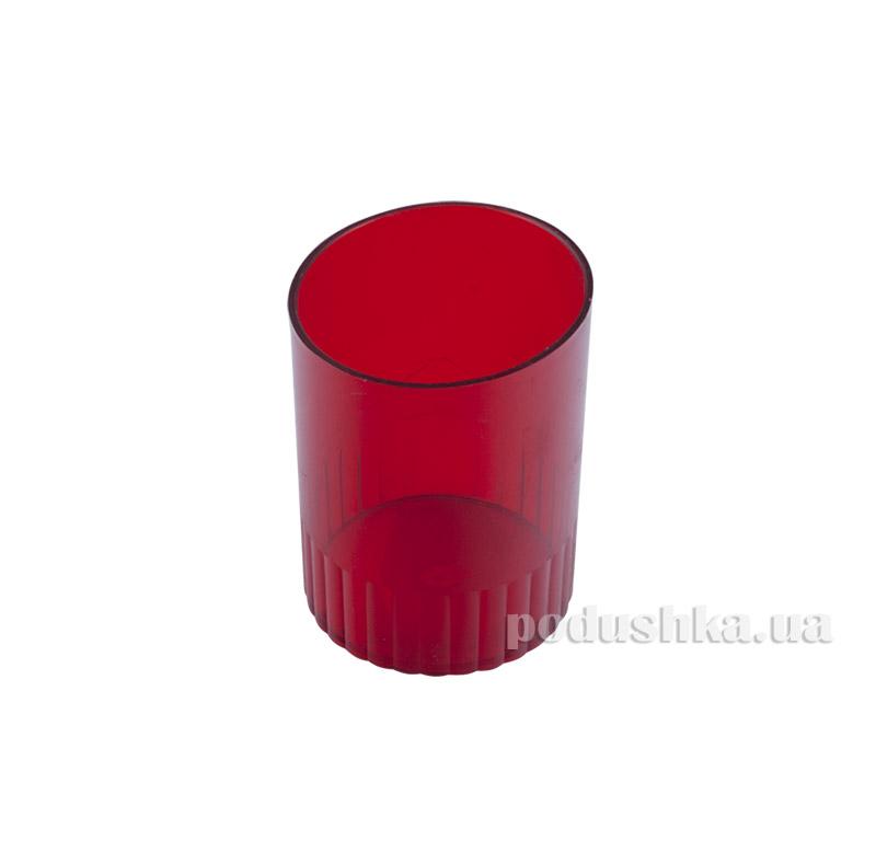 Стакан для ручек Аринка красный 81877