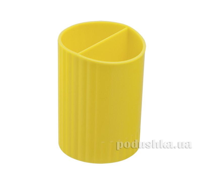 Стакан для ручек Zibi круглый желтый ZB.3000-08