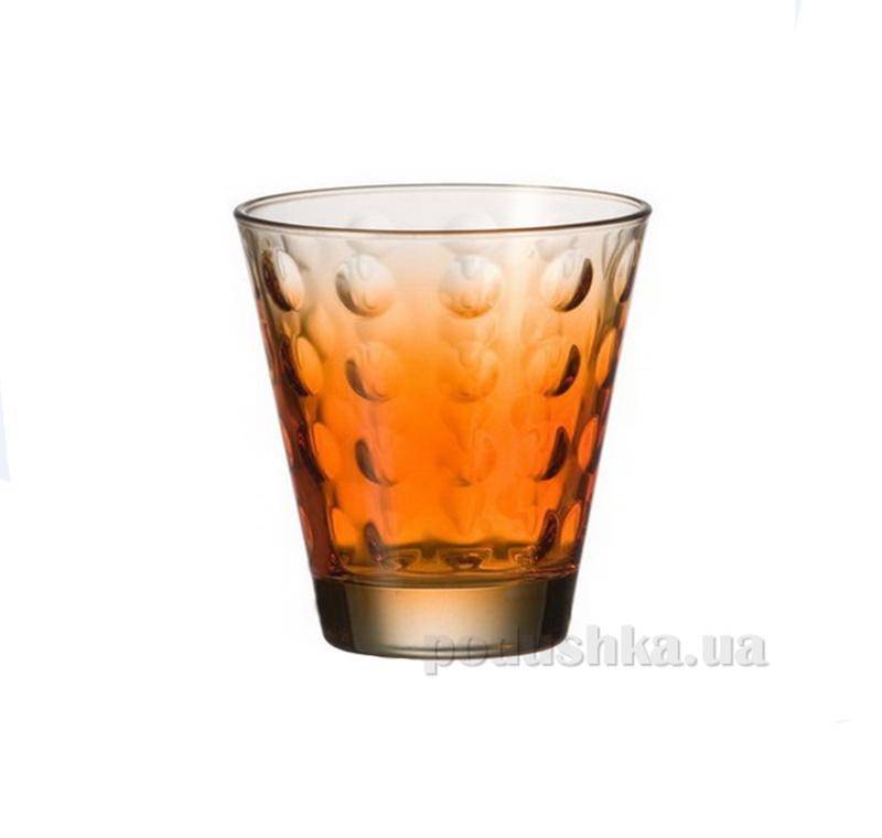 Стакан для виски Leonardo Optic оранжевый