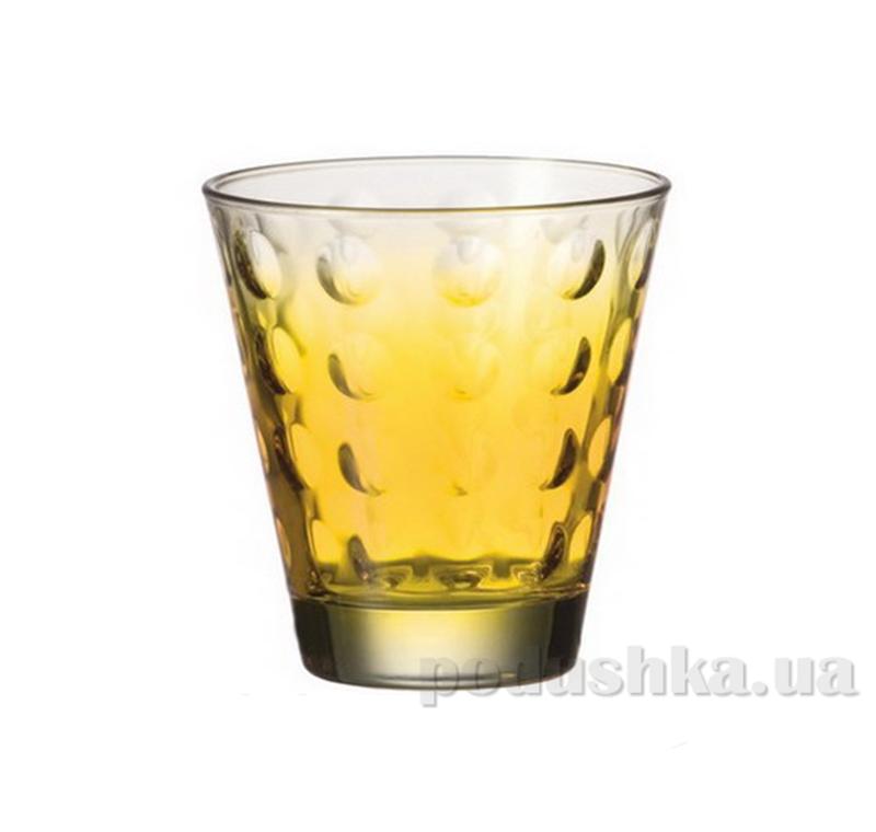 Стакан для виски Leonardo Optic желтый