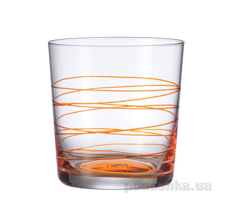 Стакан для виски Leonardo Spirale оранжевый