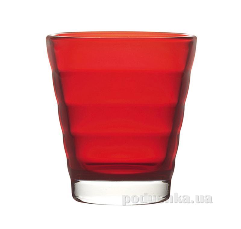 Стакан для виски Leonardo Wave красный